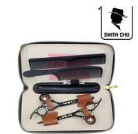 Zhu Tiejiang professional hairdressing Haircut barber scissors, shears + teeth cut black cherry series combination set