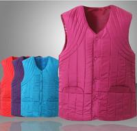 2014 Autumn and Winter cotton down vest outerwear,women's plus size brand down vest ,winter outdoor waistcoat