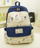 Korean style women lovely shoulders bag casual canvas backpack school bags for teenagers