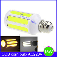 Free shipping 10pcs/lot 15W led bulb E27 AC220V /AC110V COB led bulb corn bulbs 1400lm  360 Degree Spot Light