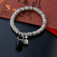 2014 New Fashion 925 Thai silver women bijoux chain link charm bracelets bangles jewelry wristband aliexpress accessories ZB9125
