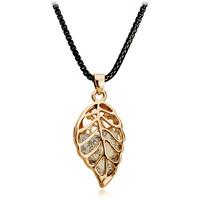 Jewelry female accessories personalized zircon metal leaves vintage  pendant