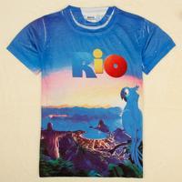 NOVA Kids Rio 2 boys full 3D printing Baby boys Short Sleeve T shirt boys top Free Shipping C5172Y