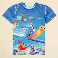 NOVA Kids Turbo boys comprehensive 3D printing Baby Boys Short T shirt Free Shipping C5175Y