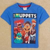 NOVA Kids Muppet Movie Baby boys cotton Short Sleeve T-shirts Free Shipping C5056