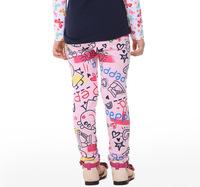 2014 New Girl Spring Autumn Leggings Peppa Pig Girl Clothing Girl Pants Cartoon Trousers 1pc Free shipping DDK-1408