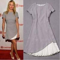 2014 Summer dress victoria Beckham Dress New fashion high quality European Style celebrity runway dress vestido de festa
