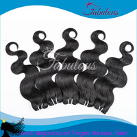 7A Top Quality FQ Hair, Cheveux Bresilien Body Wave Weaves, 6pcs/lot Brazilian Hair Weave Bundles Unprocessed Body Wavy Hair