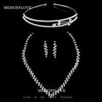 free shipping  luxury bridal  jewelry set princess crown adjustable necklace rhinestone  wedding jewelry set  whole sale price