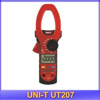 free shipping UNI-T UT207 LCD Digital Clamp Multimeter,Ohm DC AC Current Volt DMM