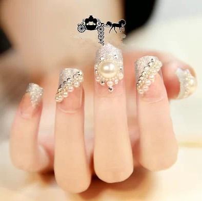 Super shiny stamp Japanese fake fingernails Personalized nail products cute Nail Sticker makeup Nail Art tools(China (Mainland))