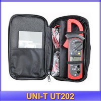 free shipping UNI-T UT202 LCD Digital Clamp Multimeter Ohm DMM DC AC Voltmeter AC Ammeter