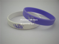 Violetta , Colour Filled in Silicon Bracelet, Adult, Purple & White, 202X12X2MM, 100pcs/Lot, Free Shipping