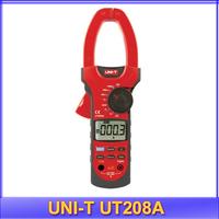 free shipping UNI-T UT208A Digital Clamp Multimeter AC DC Volt Amp Ohm Capacitance Tester 3/4 Auto Range