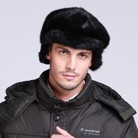 Male mink hat marten hat winter ear forward cap mink hat for man fur hat