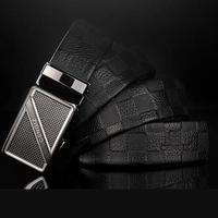 Korean new embossed real cow leather business man waist belts cheap brand design male/boy belts alloy automatic buckle men belts
