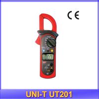 free shipping UNI-T UT201 LCD Digital Clamp Multimeter Ohm DMM DC AC Voltmeter AC Ammeter