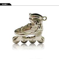 Roller Skating Keychain Pendant  , Freeshipping  Freestyle Inline Skates Jewellery
