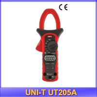 free shipping UNI-T UT205A LCD Digital Clamp Multimeter Ohm DMM DC AC Voltmeter AC Ammeter