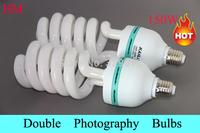 2PCS 150W E27 5500K  PhotographyLighting Video Bulb Daylight Balanced E27 5500k Energy Saving fluorescent Lamp photo studio