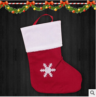 Free shipping 9cm Christmas tree ornaments Christmas Gifts Christmas socks Santa Claus Christmas gift bag