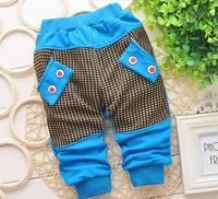 Fashion Checkered Baby Boy Pants Boy Clothing Cotton Trousers  Toddler Boy Leggings 7-24M 1pc Free shipping TKU-1401