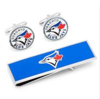 MLB Baseball Toronto Blue Jays Cufflinks Money Clip Gift Set Free Shipping