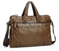 Vintage 2014 New genuine Leather Men's handbags Messenger Briefcase Bags Men fashion Shoulder Bag Free shipping(NSB-003)