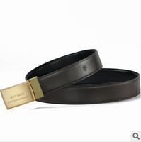 Free shipping new fashion business brand man straps Genuine leather causal male/boy waist belts metal design buckle men belts