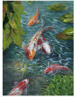 Wholesale - Free shipping Modern Fish Decor Wall Painting
