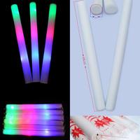"20pk 18"" LED Light Up Foam Batons MultiColor Changing Rave Baton Party Wand Glow Stick 18"""