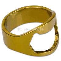 5Pcs/ lot New Golden Stainless Steel Finger Ring Bottle Wine Opener Bar Beer Waiter Waitress