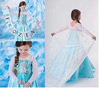 Wholesale 2014 New Come princess Frozen costume Anna Dress beautiful baby girls Dress Fashion Dress for free shipping