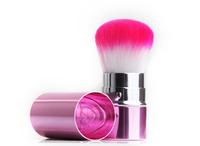 Pink Multifunctional Retractable Makeup Brush Cosmetic Powder Blush Brush Make Up Tools Free Shipping