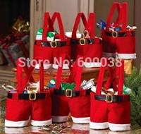 Hot sale wine bag Fashion holiday Decoration Fabric Gift Decoration Bottle Clothing Christmas New Year Candy Bag