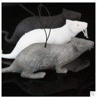 Halloween Funny toys whole person big mice Tricky April Fool's scary props mixed color 3pcs/lot free shipping