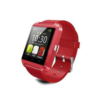 Red  color  U8 watch Bluetooth Smart Wristwatch Phone Mate For IOS Android Samsung iPhone HTC ,free shipping!!