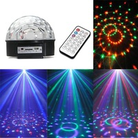 LED MP3 DJ Disco Party Club DMX512 Crystal Magic Ball Stage 18W RGB Light S5V