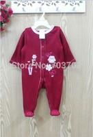 lovely mixed infant fleece clothes bodysuit romper jumpsuit baby clothes 12 pcs/lot#8015