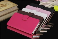 10pcs/lot free shipping Plain Wallet Stand Leather Case with card holder For iPhone 6 Air