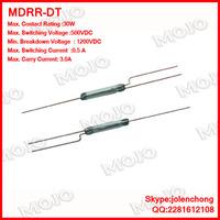 MDRR-DT  X1000pcs/lots Original and New : U.S HAMLIN reed switch 2.5X14MM N.C/N.O Green glass 3 feet hermetic reed switches