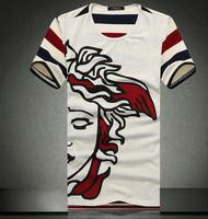 Men Casual Stripe Plaid  Checked 100% Cotton Short Sleeve Sport T-Shirt Pants POLO Raphly guchi men