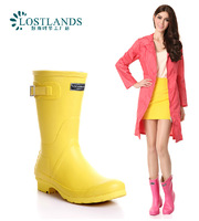 Wholesale - Hot 2014 EUR-USA rain boots women boots-in-tube candy-colored matte texture wellies boots rainboots