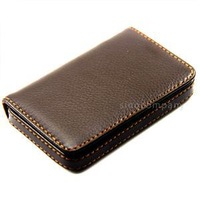 Brown Leather Business Credit ID Card Holder Case Wallet Men's Xmas Gift C10