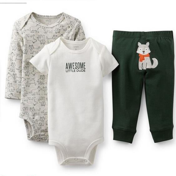 Charretiers fantasia barboteuse de bébé garçon fille des vêtements à manches ensembles. le printemps et l'hiver la naissance de atigrada roupas bebe escalade, vêtements pour nourrissons