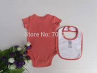 3 pcs set bodysuit romper bib receiving blankets footies bibs jumpsuit baby clothes 12 pcs/lot#8016