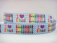 WM ribbon 7/8inch 22mm Love School Style grosgrain with Glitter ribbon 50yds/roll free shipping 140725016