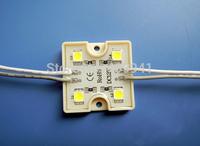 100pcs SMD5050 4 LED Modules Waterproof IP68 Warm White/Pure White DC12V  Square Shape Free ship