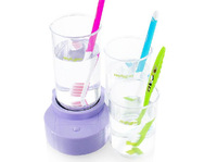 Family bathroom furniture Brush cleaner lovers ultrasonic Toothbrush sterilizer + Wash Cup