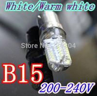 B15 small bayonet High quality LED Corn Light 6w 64leds B15 LED lamps Bulb Lighting 200V-240V CE ROHS